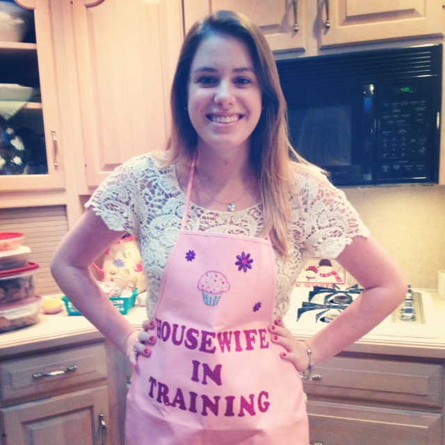 This Housewife in Training Gets a New Apron