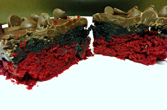 Red Velvet Oreo Truffle Bars
