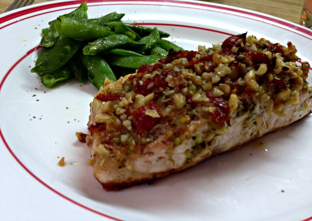 Sun-Dried Tomato and Walnut-Crusted Salmon