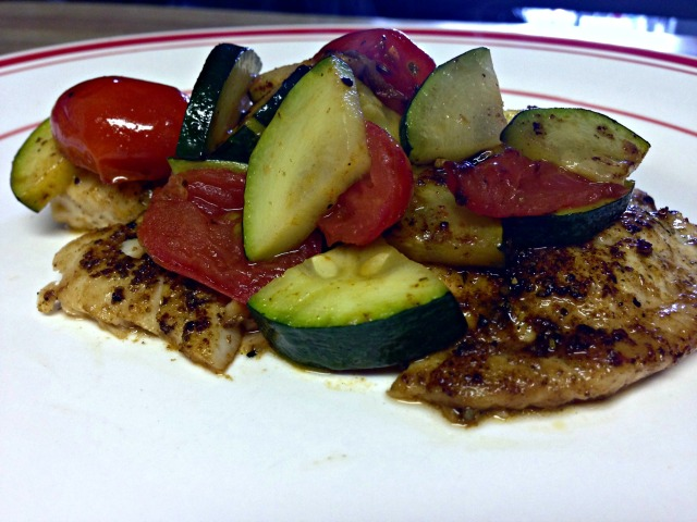 Blackened Tilapia with Zucchini and Tomatoes