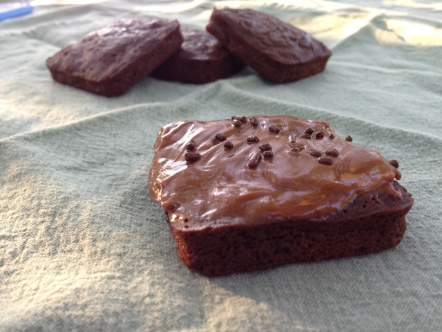Zucchini Brownies with Chocolate Yogurt Frosting