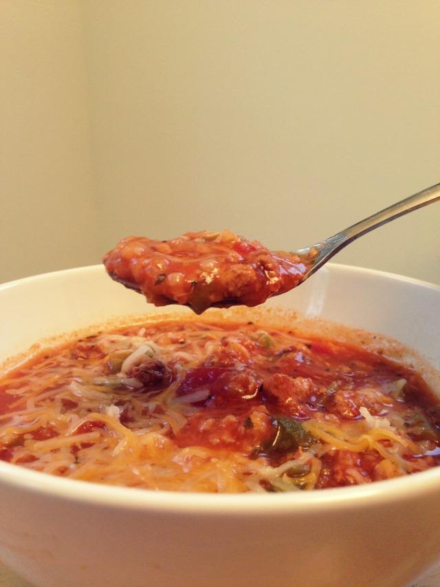 Un-Stuffed Pepper Soup