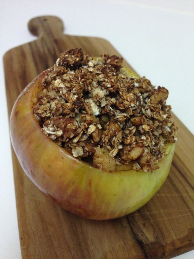 Baked Apple Oatmeal Bowl
